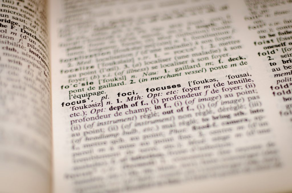 focus dictionary translation proofreading