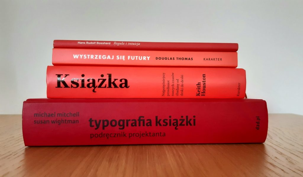 books red covers typography